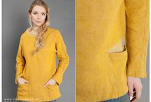 Beautiful linen tunics for chilly days / Long sleeved 100% linen tunics. Add this comfortable, relaxed fit, casual style and soft coloured tops to your cool weather wardrobe.