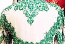 Green Back details Kebaya / Kebaya