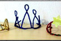 Epiphanie / epiphanie, galettes des rois, reine, couronnes, bricolages