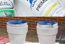 Spray painting terra cotta
