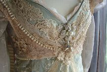 "Vintage / ""Everything old is new again"", vintage photos, and pretty lace adorned items."
