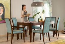 Table system VARIA / The table system VARIA offers customers the special feature of being designers themselves. Because for a tabletop in the desired size and finish, a selection may be made from among six different table leg styles.