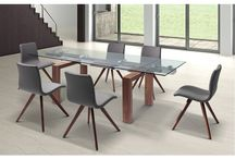 Modern Extendable Dining Collection in Walnut Finish