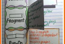 Grammar Interactive Notebook Activities / Ideas & photos for grammar foldables and interactive notebook activities for Grades 4-8