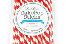Striped Cake Pop Sticks by Sweet Lauren Cakes / All the best striped cake pop sticks from Sweet Lauren Cakes! / by Sweet Lauren Cakes