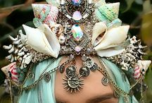 Seashell Crowns / #mermaid #Crowns #Seashell #Enchanting #Couture #Beautiful & #Unique