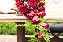 Wedding trailing bouquets / Stunning trailing wedding bouquets created by Florist ilene.