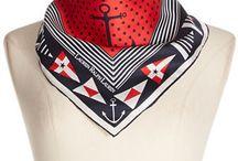 Patriotic Nautical Scarfs / Deluxephotos features patriotic nautical scarfs