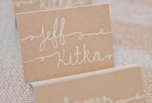 Name Cards and Seating Charts / Place Card and Seating Chart Inspiration