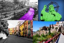 Logo Cuenca / He creado un logo de los lugares emblemáticos de mi ciudad que es Cuenca, que es un lugar realmente hermosos.  Yo misma e retocado las fotos para que quedara más original.