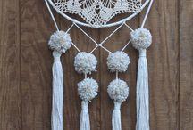 Crochet wall decoration