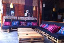 Outdoor furniture with pallets idea