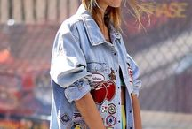 oversized jean jackets with Patches