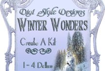 DSD Winter Wonders Create A Kit / DSD Winter Wonders Create A Kit, small kits from 1-4 dollars from many designers