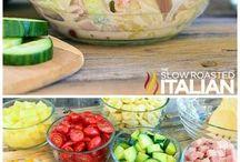 Lecker, ein Salat...