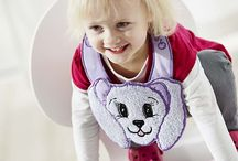 277 Cute and Cuddly / Adorable projects, in the hoop, and pop-up-embroideries with fun animals for your children or grandchildren. Embellish clothes, blankets and/or bags! Hoop sizes from 240x150 up to 360x350 / by Husqvarna Viking® Sewing and Embroidery Machine