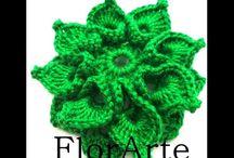 tutoriales de flores en crochet