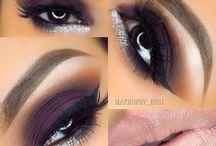 Purple eyeshadow nude lips 11/16