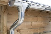 Zinc Guttering | Galvanised / Zinc guttering provides the best protection from water damage for your shed/ summer house or log cabin. Now you can immediately drain or collect rainwater in, for example, a water butt. Our zinc guttering is available in titanium zinc and galvanised.