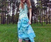 Валяная юбка с шёлком