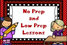 No Prep and Low Prep Lessons / This board is filled with time-saving freebies, low prep lessons, and blog posts with some helpful classroom ideas.  Some of these things would be easy to leave for a sub!  If you pin to this board, please pin 1 freebie or idea/blog post for every paid item.