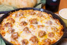 Baked Pasta and Meatballs