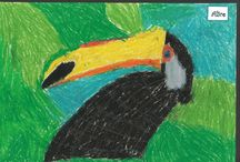Tree Top Toucans / Pastel Toucans in Tree Tops by Year 1