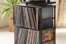vinyl storage for a teenagers room