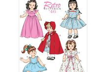 Dolls Clothes Sewing Patterns / Patterns to make your own sewing patterns for dolls.