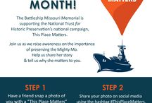 This Place Matters / The Battleship Missouri Memorial is supporting the National Trust for Historic Preservation's national campaign, This Place Matters.   Join us as we raise awareness on the importance of preserving the Mighty Mo. Help us share her story & tell us why she matters to you.