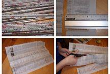 Kosárfonás újságpapírból - tényleg hasznos :)
