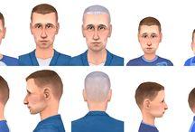 Sims 2 - Hair - Male