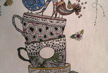 Cups zentangle