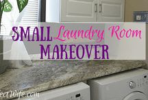 Home Decor:  Laundry Room Makeovers / Laundry room makeovers.  Laundry Room ideas.  Laundry Room Inspiration.  DIY