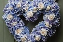 BLUE ~ FLOWERS / by Sue Dewland