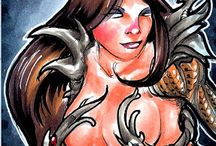 Witchblade sketch cards for the official trading card set