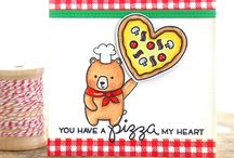 Pizza my heart / The Pizza My Heart stamp set is so cute!