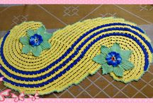 Tapetes / Tapetes feito em barbante em diversas cores e formatos