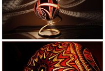 Shade chandeliers