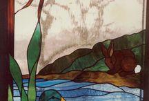 Fish pond mosaic