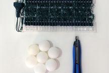 luminária ping pong