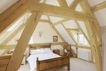 Bedroom Vaulted oak frame