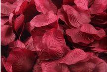 1000 petales soie rouge mariage