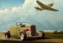 Shark Mouth / The shark mouth motif owes much of its fame to the P-40 Tomahawks and Kittyhawks of RAF Squadron 112. It was also used later by the Flying Tigers, and earlier on the Messerschmitt Bf 110s of Zerstörergeschwader 76. Today it looks badass on anything.