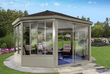 All Aluminum Gazebo with glass windows and doors