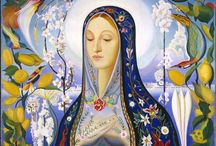 Virgin Mary and her friends! / I am pagan, but she makes my head spin <3