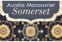 "Somerset by Robert Kaufman / ""Somerset"" by Aurelia Manouvrier for Robert Kaufman Fabric Cotton Quilting Collection of Robert Kaufman Fabric Company."