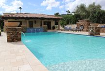 Swimming Pool Remodels / A variety of swimming pool remodels; Interior Surfaces, Waterline Tile, Paver Decking..
