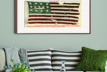 Americana / Well-placed pieces with patriotic imagery and colors add a touch of the American Spirit without being over the top. / by Art.com