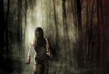 Creepy :o / I love horrory.  I love straszne historie. Lubię się bać.
